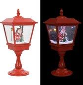 Sokkellamp met kerstman LED 64 cm