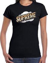 Fout Supreme t-shirt in 3D effect zwart voor dames - fout fun tekst shirt / outfit - popart M