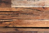 W & G Fotobehang Wooden Wall - 8 delig