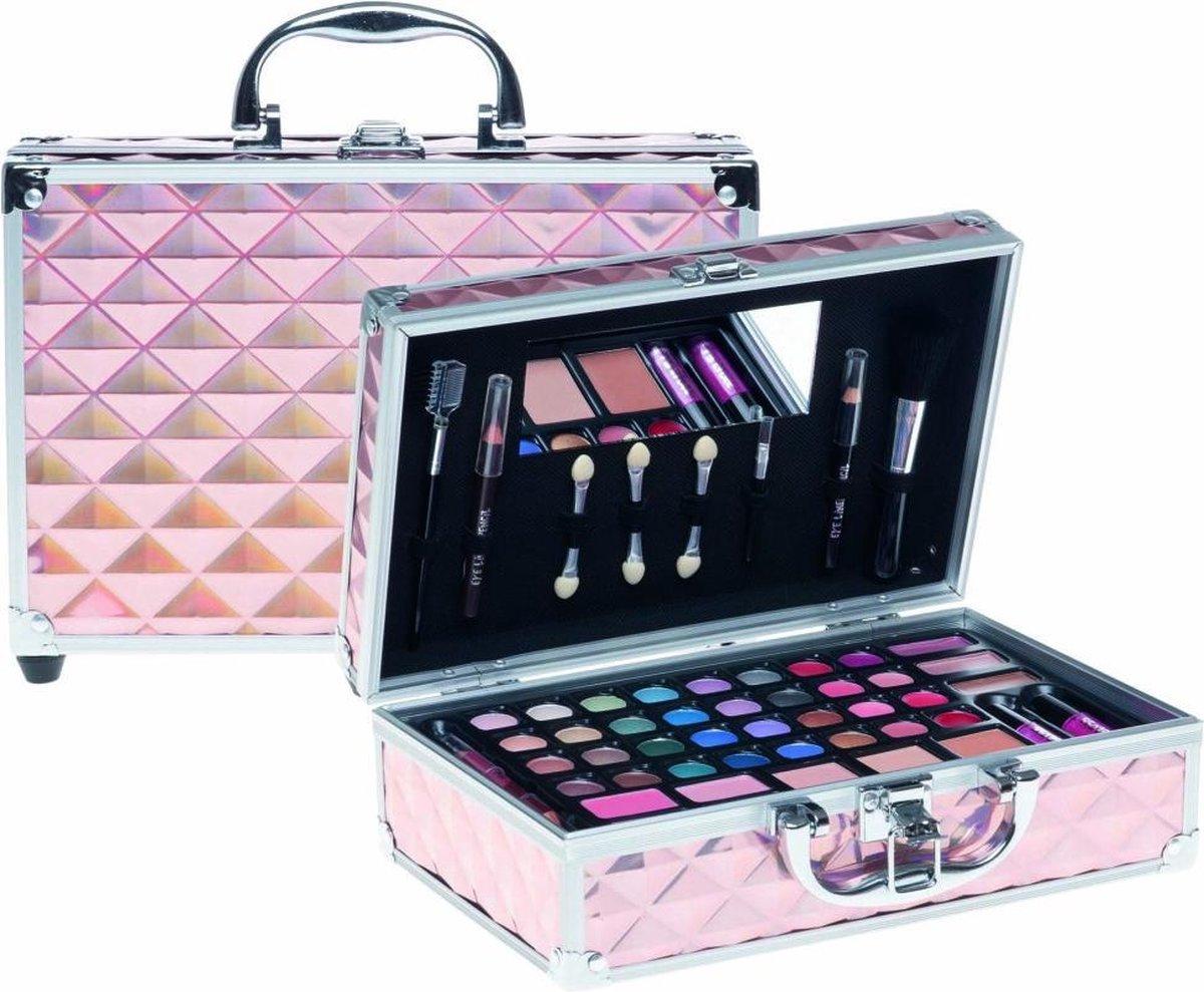 Casuelle Make-Up Koffer Roze/Holografisch