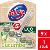Glorix Power 5 Toiletblok - Eco Cucumber - 9 stuks