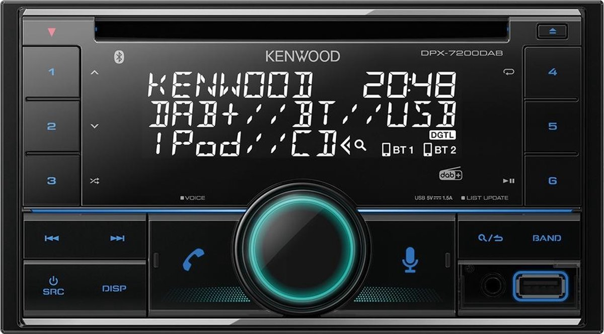 Kenwood DPX7200DAB - Autoradio met DAB+ (2-DIN)
