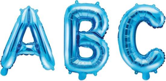 PARTYDECO - Aluminium blauwe letter ballon - Decoratie > Ballonnen