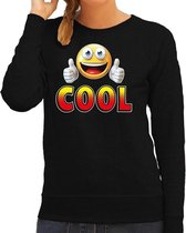 Funny emoticon sweater Cool zwart voor dames -  Fun / cadeau trui 2XL
