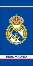 Real Madrid Strandlaken Logo - 75 x 150 cm - Blauw