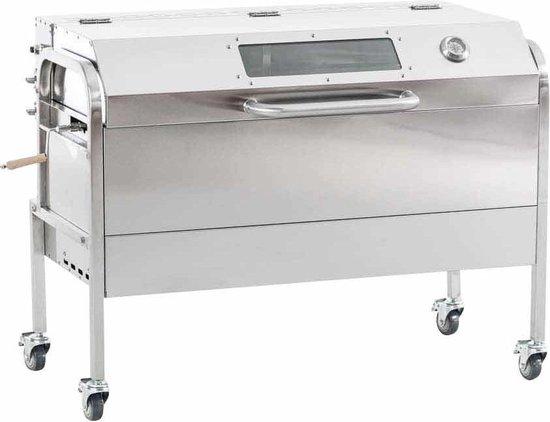 Clp Matthew - BBQ/speenvarken grill - RVS - zilver