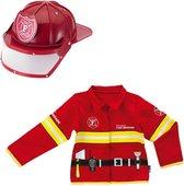 Brandweerjas en Brandweerhelm voor Kinderen - Imaginarium - Verkleedkleding Brandweer - Helm en Jas - 3 - 6 Jaar