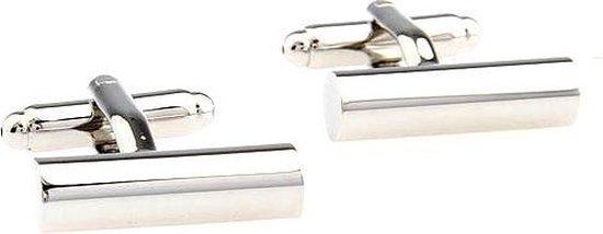 JewelKing - Manchetknopen - cilinder (langwerpig) / Zilver kleur