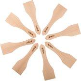 Uulki® Ecologische Raclette / Gourmet Spatel Set van Onbehandeld Europees Beukenhout - Set van 8 Houten Kleine Spatels (13 cm) - Hout