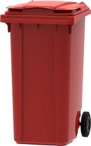 Kunststof Kliko Afval Rolcontainer Mini container - 240 liter - Rood