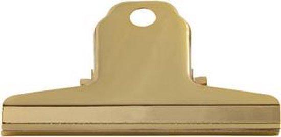 LPC Papierklem Spring clip goud - 76 mm - 10 stuks