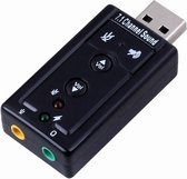 Externe USB Geluidskaart Surround 7.1 - USB Dongle 7.1 - USB Sound Adapter 7.1 - USB Geluidskaart Extern 7.1 - Geluidskaart USB PC - Geluidskaart 7.1 USB - USB geluidskaart