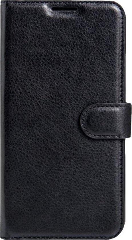 LG K4 horizontaal Litchi structuur PU leren Flip Hoesje met magnetische sluiting  houder en opbergruimte voor pinpassen & geld (zwart)