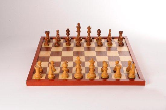 Schaak/dambord 42 cm in shrink (exclusief schaak/damstenen)