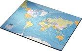 Esselte Bureau Onderlegger - Wereldkaart - Engels