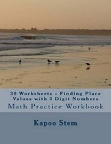 30 Worksheets - Finding Place Values with 3 Digit Numbers