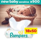 Pampers New Baby Sensitive Billendoekjes - 900 stuks