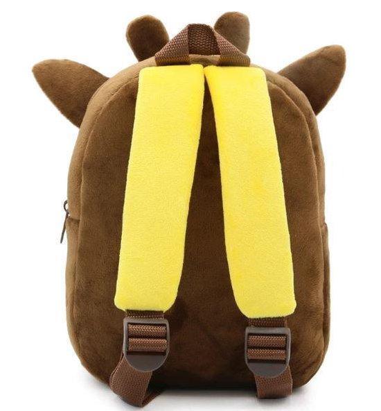 Kinderrugzak giraf van zacht pluche - lekker zacht en praktisch | stoere giraf schooltas | 2-5 jaar | Babygold ® - Babygold