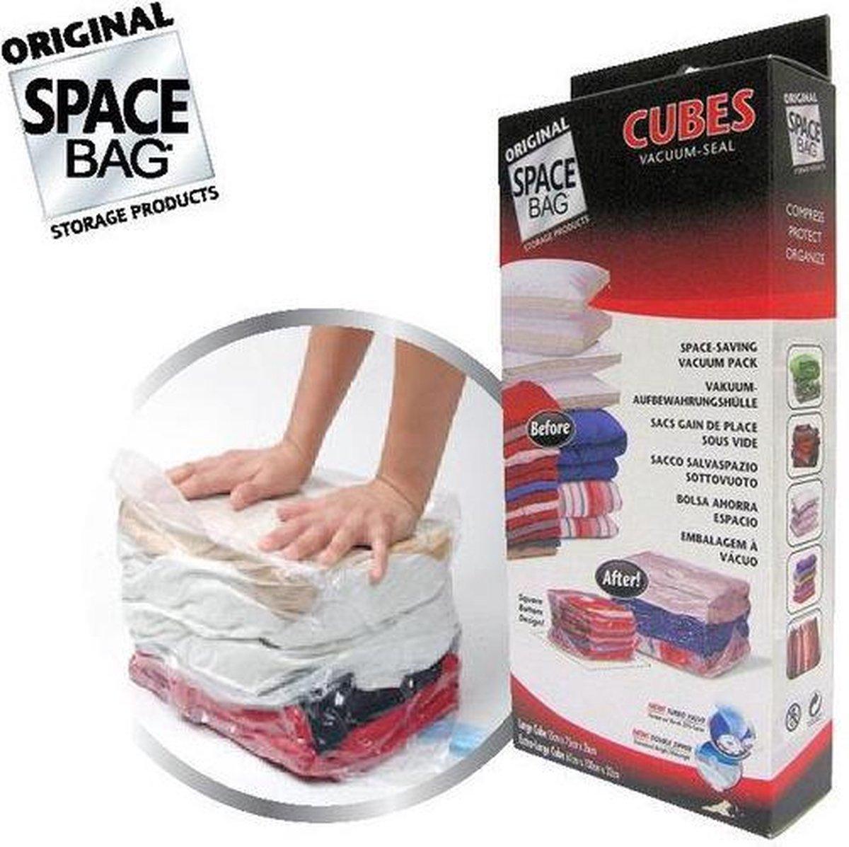 Space Bag Cubes (2 stuks) Vacuum Opbergzakken - Space Bag