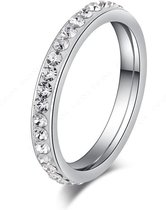 Montebello Ring Parcia - Dames - 316L Staal - Zirkonia - 3 mm - Maat 64 - 20.4