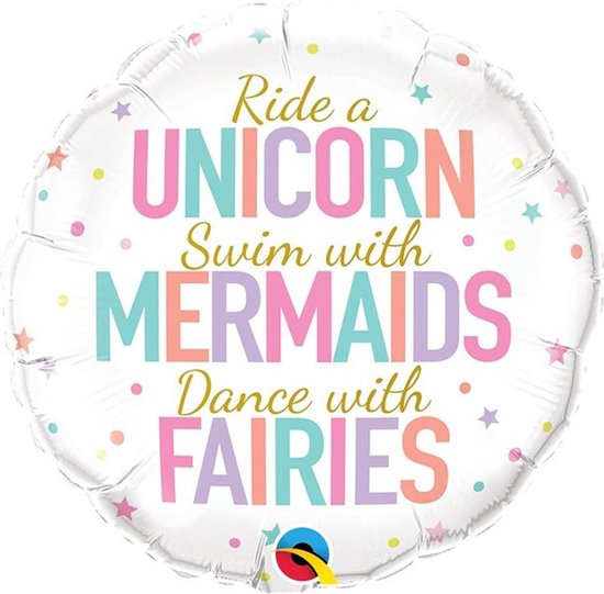 Folie ballon Unicorn Mermaids Fairies - 46 cm