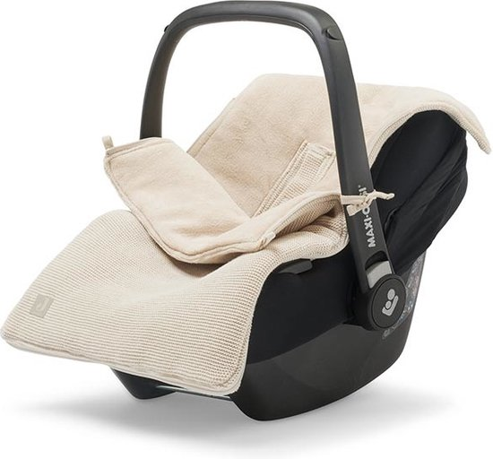 Product: Jollein Voetenzak voor Autostoel & Kinderwagen - Basic Knit - Nougat, van het merk Jollein