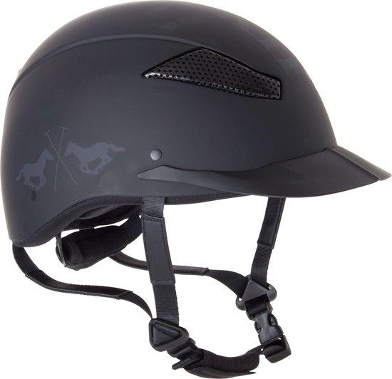 Riding helmet Langley mat Black M