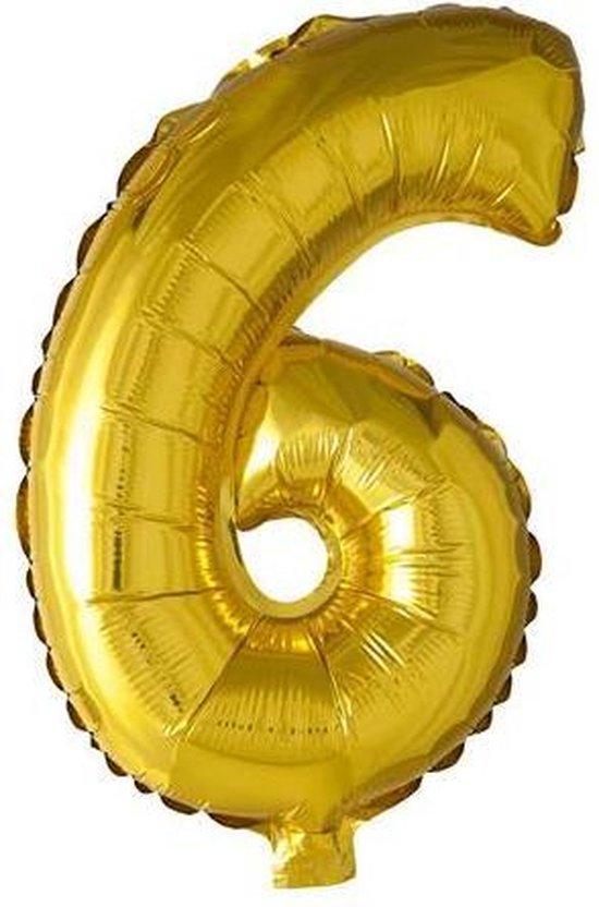 Folieballon cijfer 6