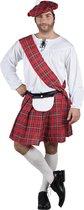 4 stuks: Volwassenenkostuum Scotsman - maat 50/52