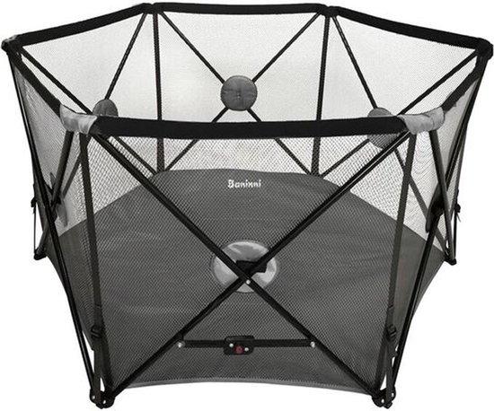 Product: Opvouwbaar Campingbed Baninni Flessi Zwart [6-Hoekig], van het merk Baninni