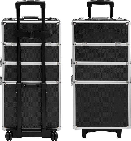 TecTake Cosmetica koffer met 3 Etages - Zwart - Make-up Koffer - Tectake