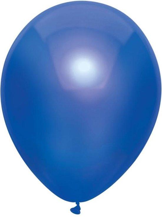 10x Donkerblauwe metallic ballonnen 30 cm