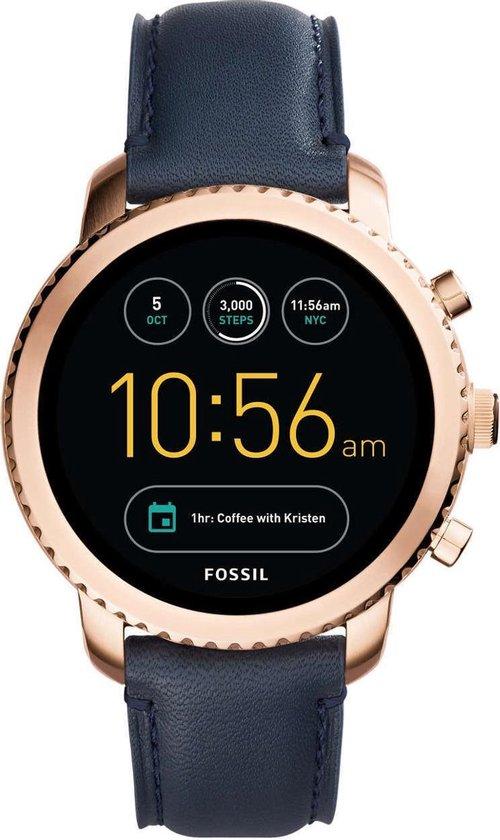 Fossil Q Explorist FTW4002 - Smartwatch - Blauw