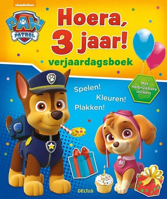 Afbeelding van Paw Patrol - Hoera, 3 jaar! verjaardagsboek