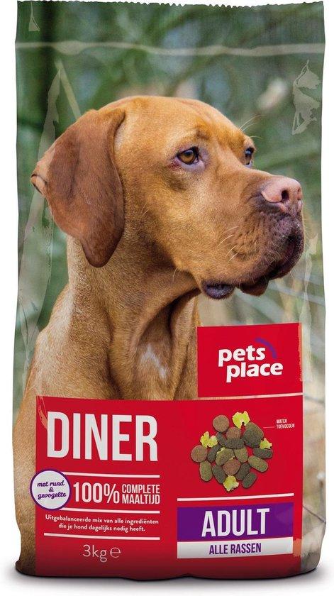 Pets Place Adult Diner - Gevogelte & Vlees - Hondenvoer - 3 kg
