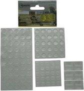 Siliconen stootdoppen / stootdruppels 106 stuks assorti - Glazen tafel / deur beschermers