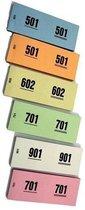 Garderobenummers - Nummerblok - 2 stuks