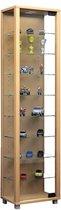 Vitrinekast wandvitrine Edana maxi met LED beuken hangend of staand