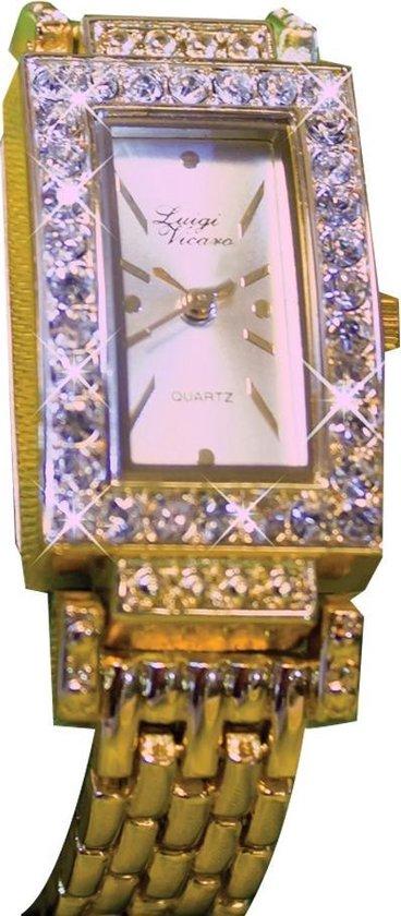 Horloge met glaskristal