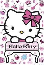 Hello Kitty maxi sticker - Roze
