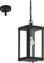 EGLO Vintage Alamonte 1 - Buitenverlichting - Hanglamp - 1 Lichts - Zwart