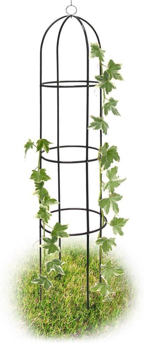 relaxdays Rankhulp obelisk - metaal - rozenboog - tuindecoratie - 190 cm - plantensteun