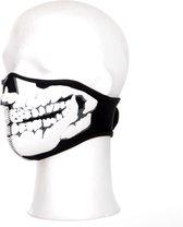 Biker Mask Neoprene Skull 3D zwart