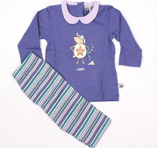 Woody pyjama schaap meisjes - lila - 152-3-BLT-S/860 - maat 62