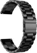 Just in Case Samsung Galaxy Watch 3 45mm Metalen armband - zwart