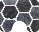 Dutch House wc-mat Rennes grijs 60x50cm