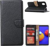 Samsung Galaxy A01 Core Hoesje - Galaxy A01 Core book case met Pasjeshouder - Zwart
