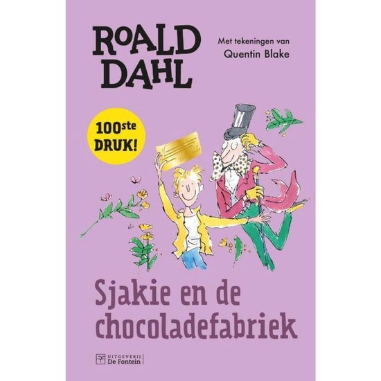Boek cover Sjakie en de chocoladefabriek van Roald Dahl (Hardcover)