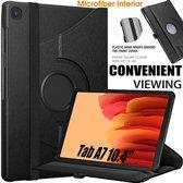Samsung Galaxy Tab A7 10.4 (2020) Hoes bookcase - Galaxy Tab A7 360 draaibare Hoesje - Zwart