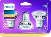 Philips LED Spot GU10 35W Warm Wit 3 pack